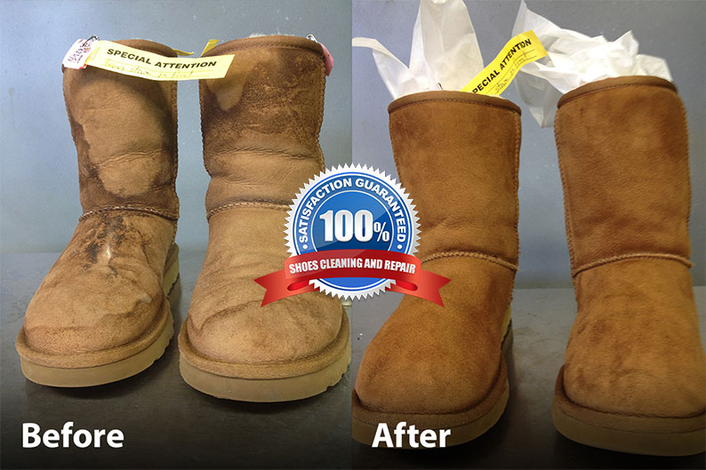 Ugg Boot Cleaning Before and After Photo