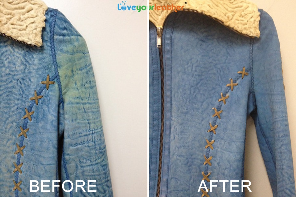 Jacket cleaning Toronto before and after