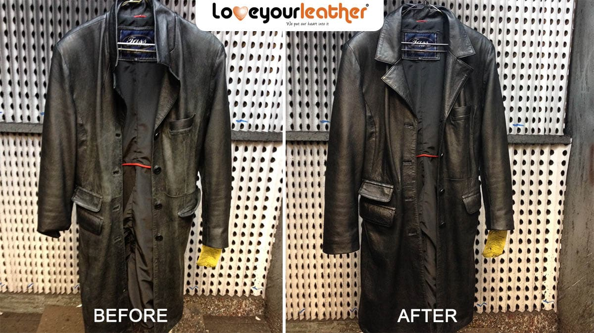 black leather coat cleaning