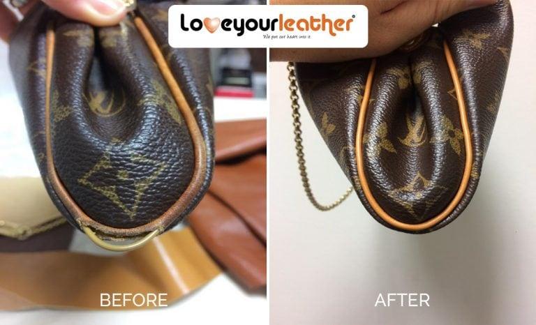 Piping leather repair lv handbag