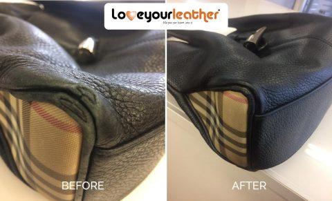 Burberry handbag leather repairs