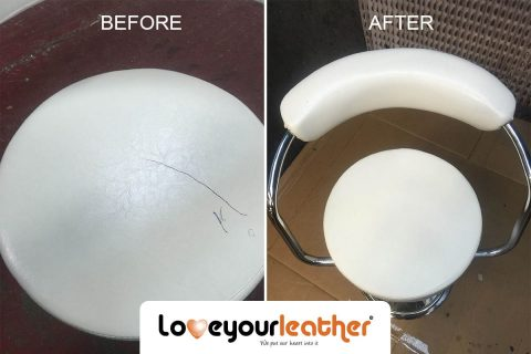 Leather chair pen stain cleaning