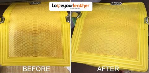 Yellow Leather Purse Cleaning